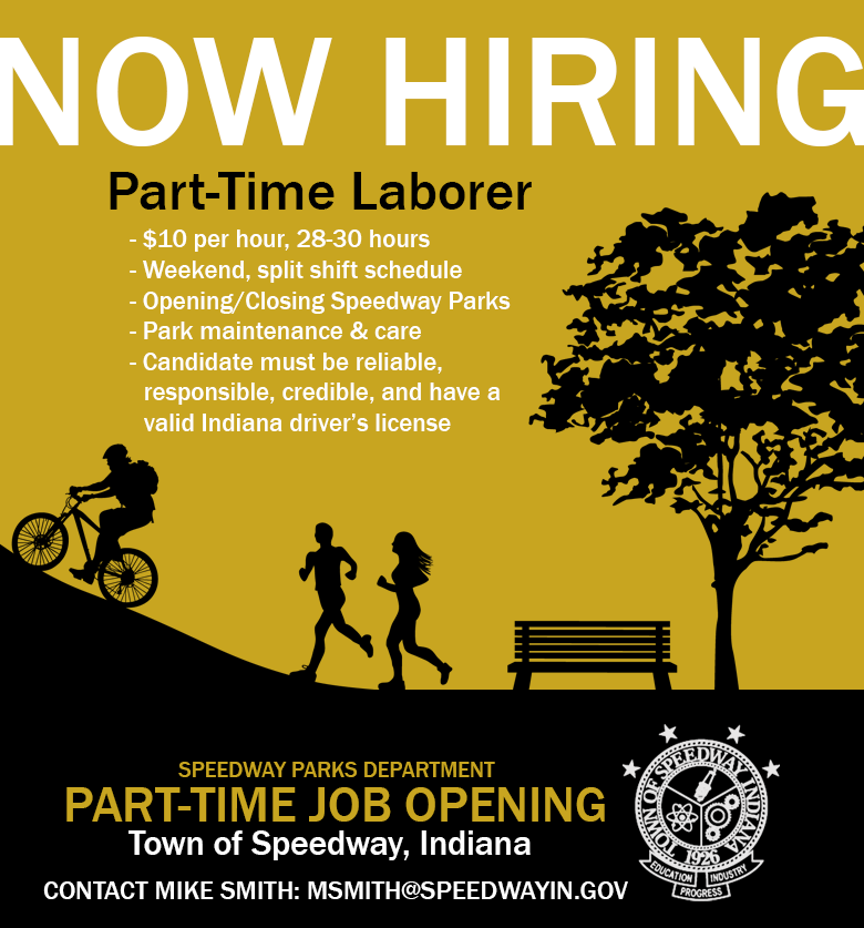 Speedway Parks Part-Time Weekend Position Available