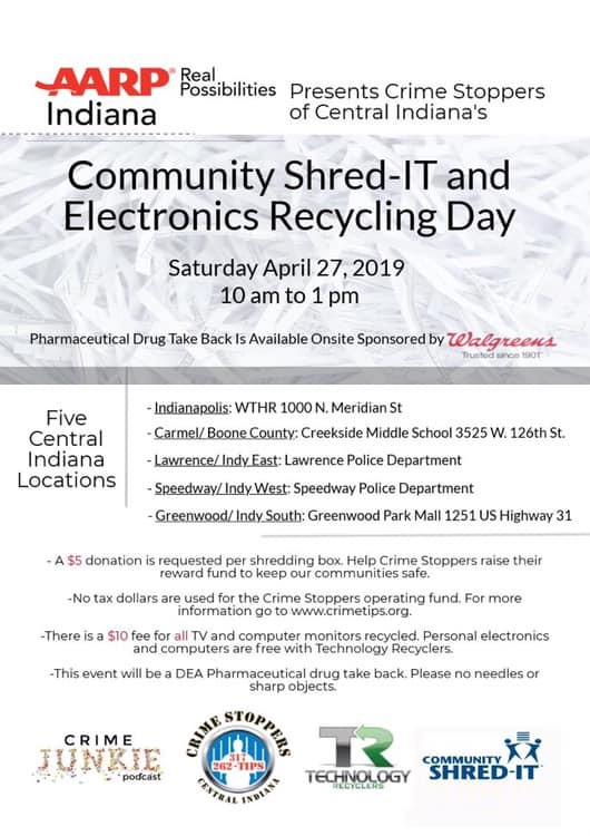 Events Calendar / Community Shred-IT and Electronics Recycling Day
