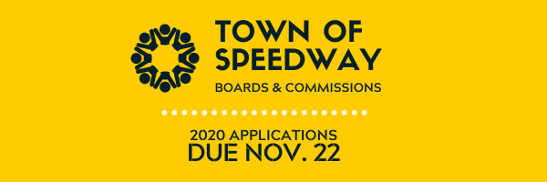 APPLY NOW: Speedway 2020 Boards and Commissions